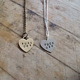 Sisters of Summer F*ck Off Heart Necklace