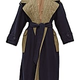Ganni Two-Tone Belted Wool-Blend Coat