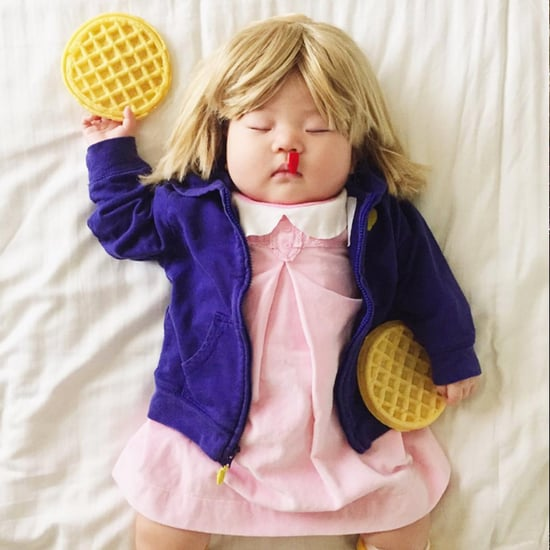Baby Dressed Up in Costumes While She Naps
