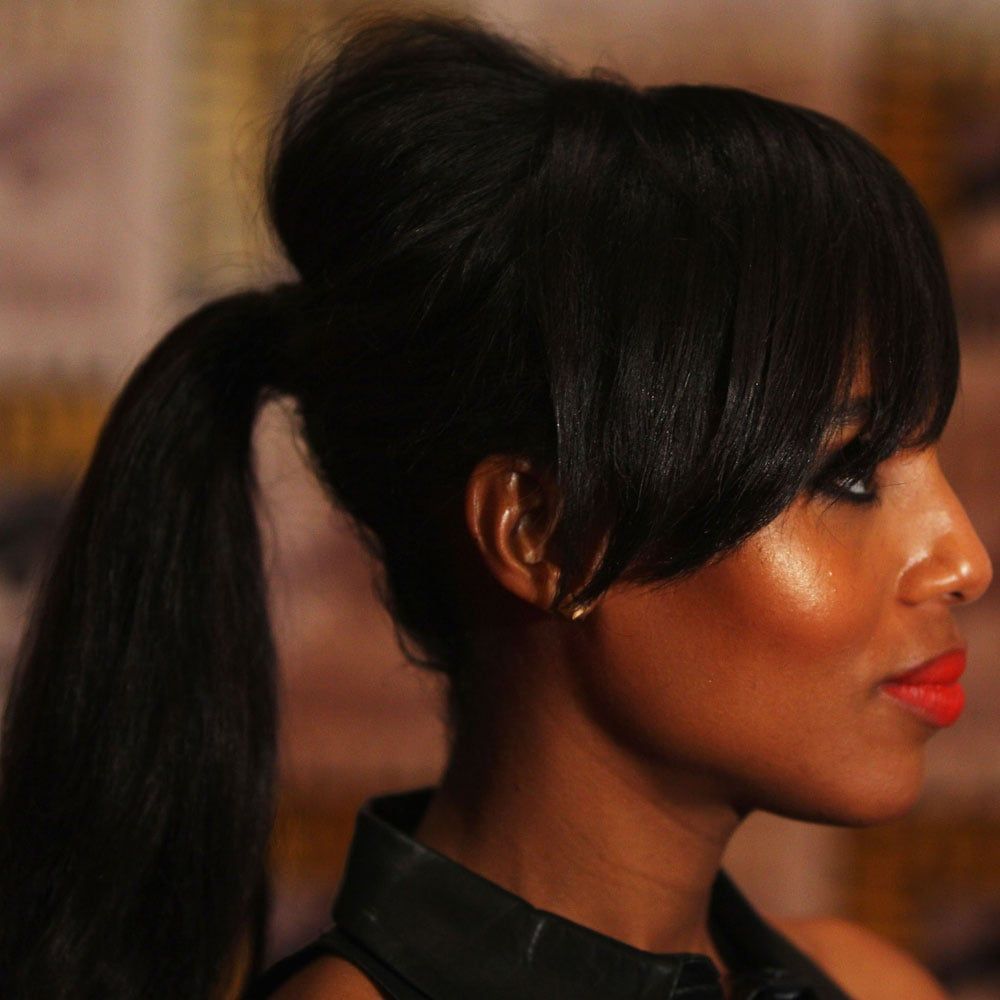 We loved Kerry Washington's bright lip — but check out her amazing ponytail. Great volume on the top.