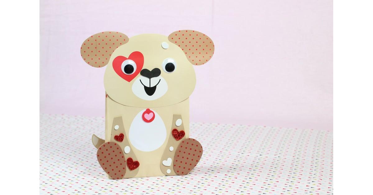 Puppy Valentine Card Holders Craft Kit  Valentines Day Mailboxes