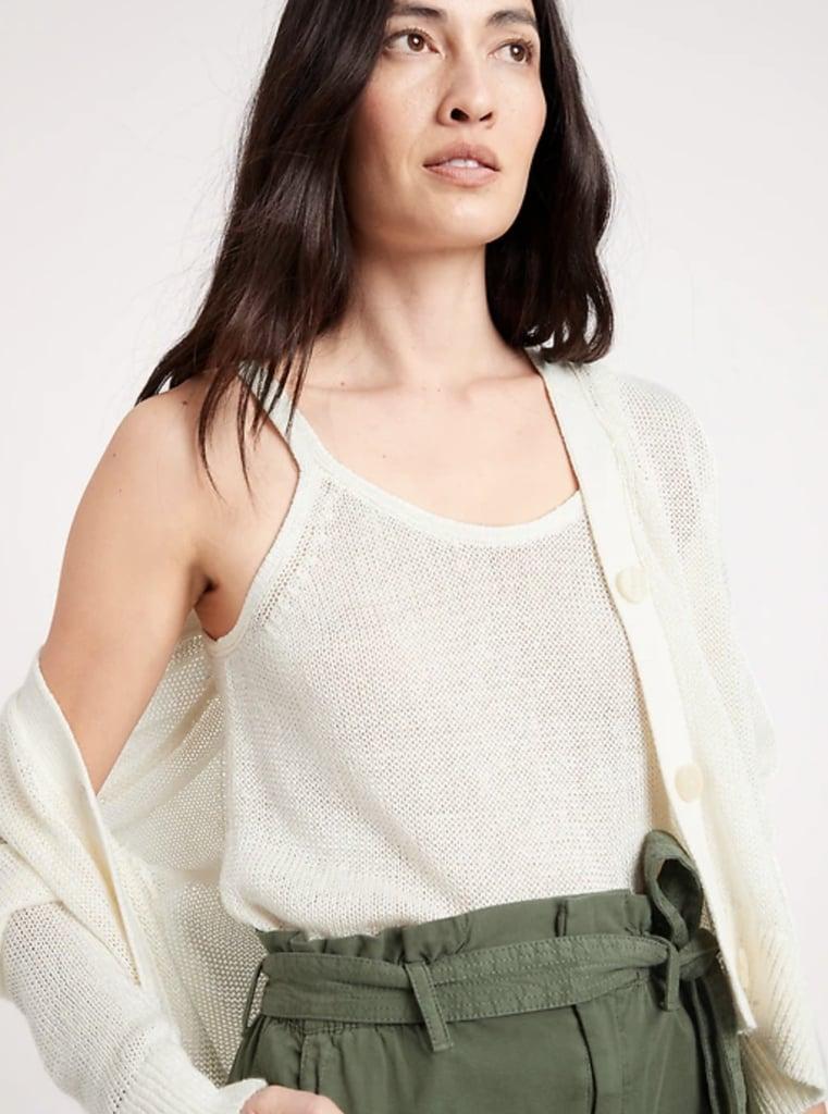 Banana Republic Shimmer Linen-Blend Sweater Set