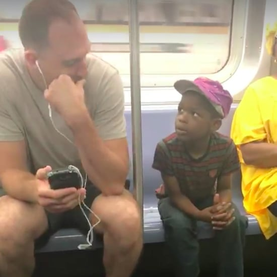 Guy Hands His Phone to Kid on the Subway Viral Video