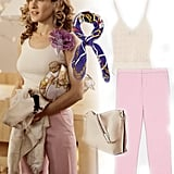 Carrie Bradshaw's Pink Trousers and Knit Tank