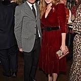 Princess Beatrice's Red Velvet Dress November 2018