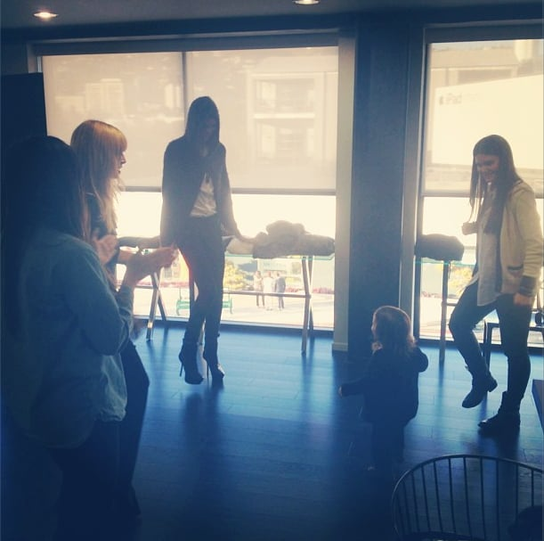 Lil Skyler Berman busted a move during Rachel Zoe's Fashion Week review. Source: Instagram user rachelzoe