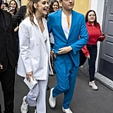 Barbara Palvin and Dylan Sprouse at Milan Fashion Week