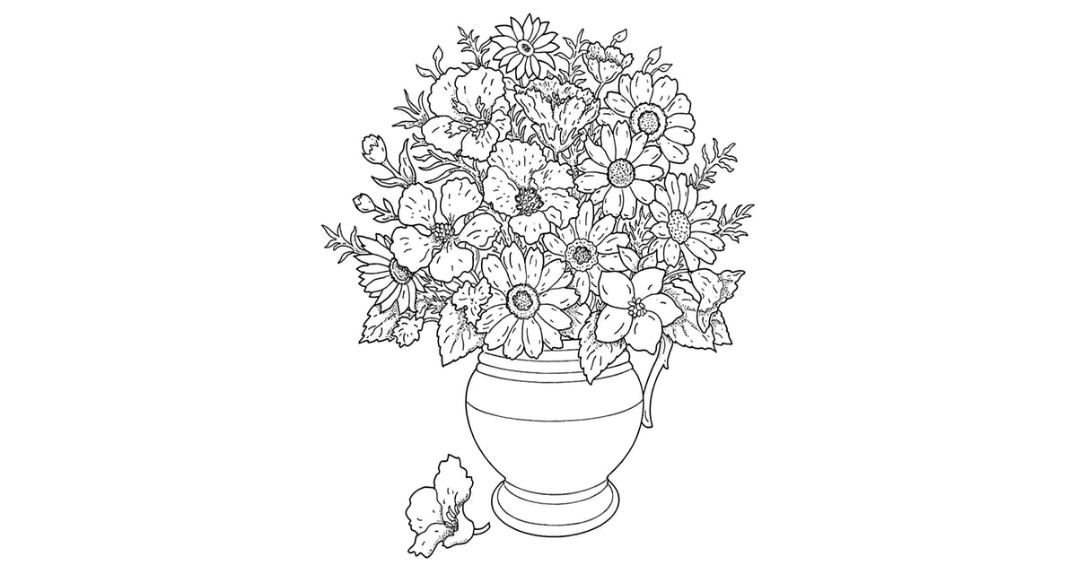Flower Pot Free Coloring Book