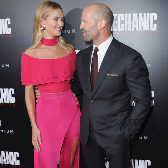 Rosie Huntington-Whiteley Jason Statham Mechanic Premiere
