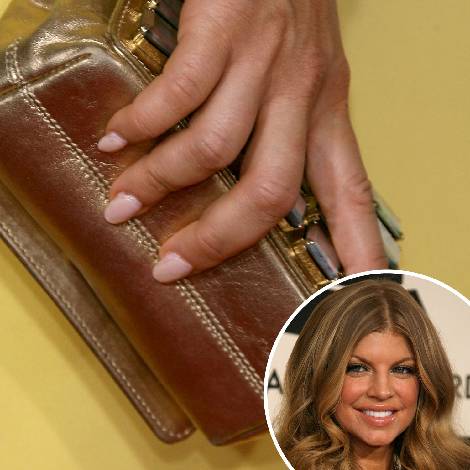 With a makeup palette and ensemble filled with warm yellows and golds, Fergie opted for a cool pastel pink shade at the 2008 Grammy Awards.