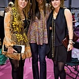 With Princess Beatrice and Naomi Campbell after the Issa show during London Fashion Week in September 2008.