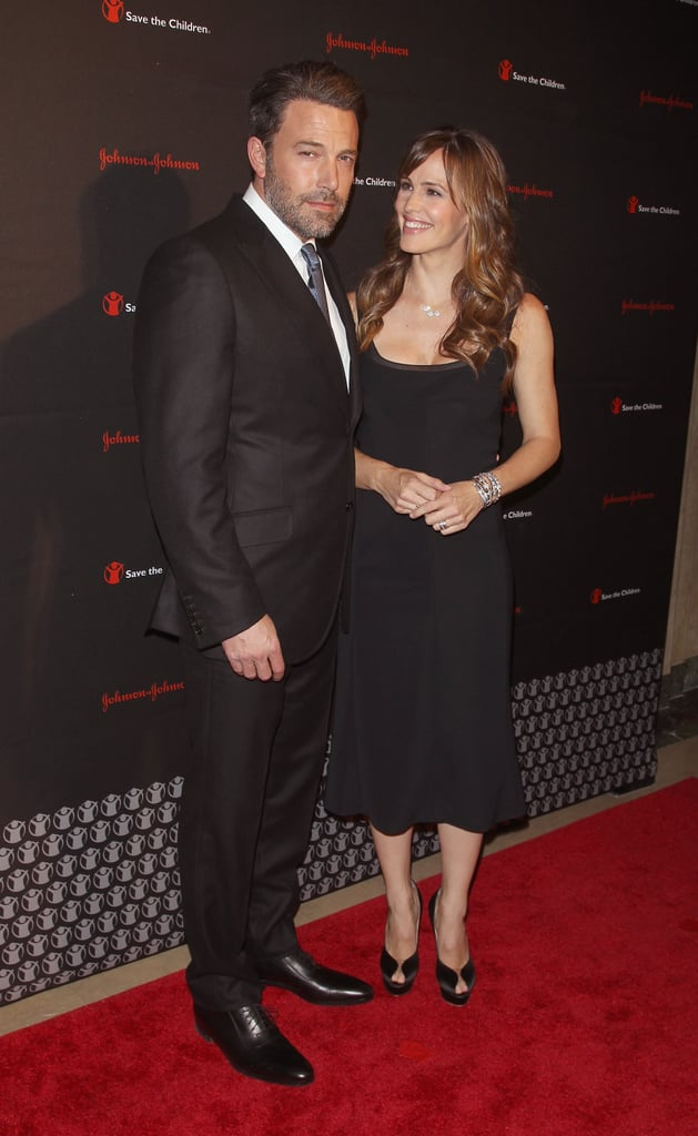 """Ben Affleck and Jennifer Garner made a rare red carpet appearance together on Wednesday night when they attended the second annual Save the Children Illumination Gala in NYC. (Their last red carpet appearance together was at the 2014 Vanity Fair Oscars afterparty in March.) The pair traveled to the Big Apple after Ben walked the red carpet on his own at the Hollywood Film Awards in LA last Friday. The actor was there to pick up the best film award for his latest film release, Gone Girl, and he found time to work in a few jokes about his now-infamous full-frontal scene in the film. Jen has also been making public jokes about the scene, telling Ellen DeGeneres back in October that the nude shot was her gift to the world. """"You give me so much,"""" she joked. """"I wanted to give something back to all of you."""" The pair may have more joint appearances on their radar, as Gone Girl is expected to be at the top of many nomination lists this award season."""