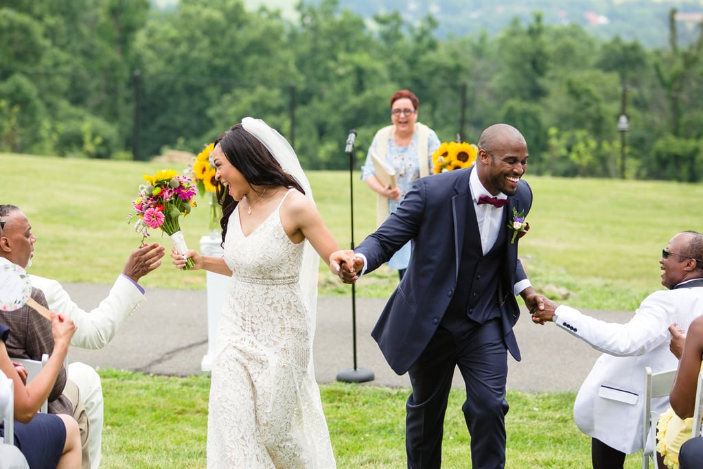 Krysta and Martin's wedding took place in the couple's backyard in Bluemont, VA, and it took place on July 7, the same anniversary as both of their parents. See the wedding here!
