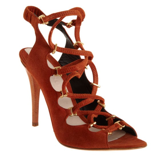 Sure, we're looking for a great lace-up iteration, and Narciso Rodriguez's burnt orange sandal ($1,095) nailed it with such an autumnal-hue edge.