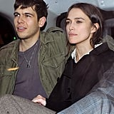Keira Knightley with her boyfriend James Righton in a car out in London.