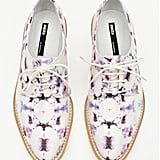 One part tie-dye, one part celestial-inspired: these Miista Zoe printed oxfords ($148) add an interesting texture to the flat lace-up silhouette.
