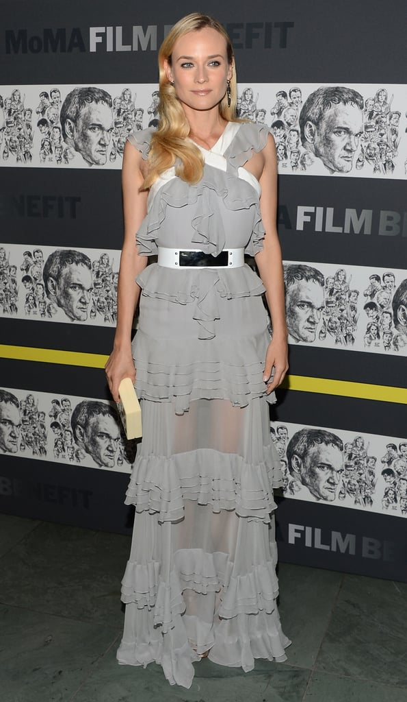 Diane's sheer ruffled dress by Prabal Gurung was equal parts modern to feminine.