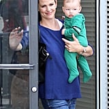 Jennifer Garner ran an errand with Samuel Affleck in Pacific Palisades.