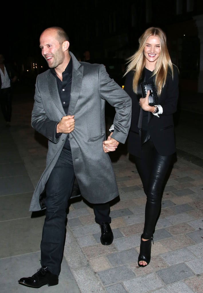 Rosie Huntington-Whiteley and Jason Statham had a date night in London on Saturday.