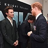 Prince Harry chatted with Harry Styles at the Dunkirk premiere.