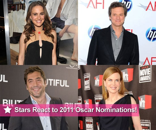 2011 Oscar Nomination Reactions From Natalie Portman, James Franco, Javier Bardem, and More 2011-01-25 15:41:08