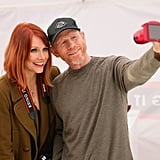 Bryce Dallas Howard took a smiley selfie with her dad, Ron Howard, at Canon's Let It Snow Globe event in LA on Saturday.