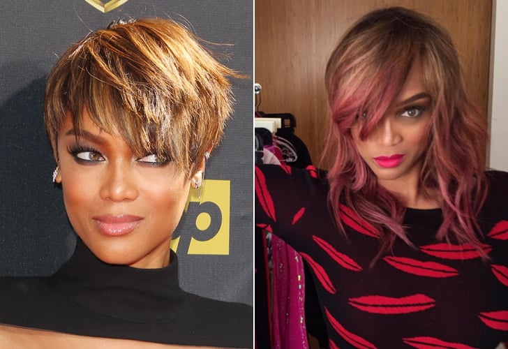 Tyra Banks Best Celebrity Hairstyle Changes 2015 Popsugar Beauty
