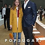 Olivia Palermo and Johannes Huebl had it all going on at the Chloé show during Paris Fashion Week on Sunday.