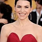 Julianna Margulies's Bavna hoops elevated her red dress to a new level.
