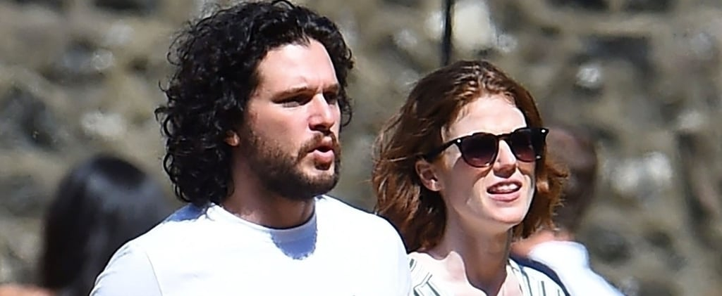 Kit Harington and Rose Leslie Out After Getting Married