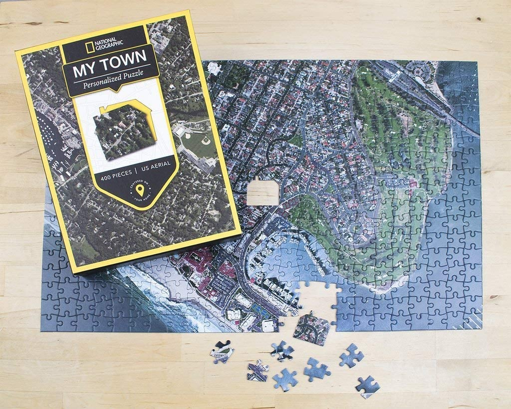 National Geographic My Town Aerial Map Jigsaw Puzzle