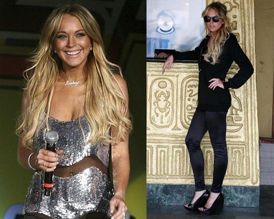 Lindsay Lohan Debuts Leggings Line, Goes to Wango Tango, Dropped From Movies
