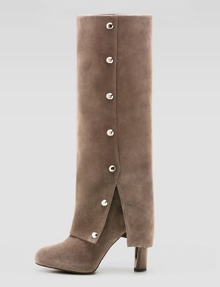 These Stuart Weitzman suede spats boots ($520, originally $695) aren't for everyone, but a gusty fashion gal can totally pull them off. They would pop against an all-black outfit.