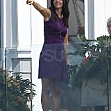 Pictures of Courteney Cox Filming Cougar Town
