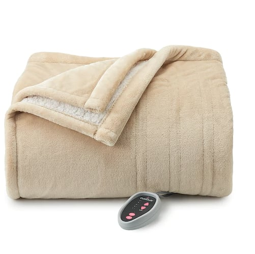 Cuddl Duds Heated Plush to Sherpa Blanket