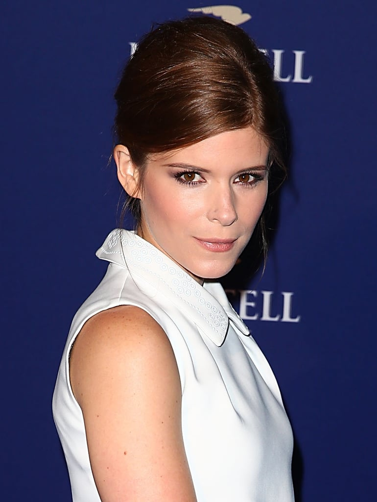 Want a sleek, sophisticated updo idea for Fall? Kate Mara hit all the high points with this French roll from the Martell Caractere Cognac launch party.