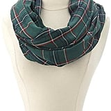 Charlotte Russe Plaid Infinity Scarf