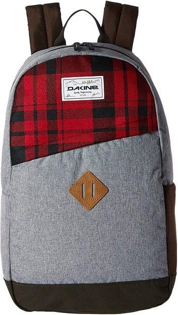 Plaid Panel Backpack