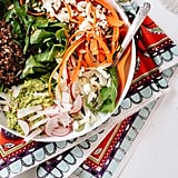 Spring Carrot, Radish, and Quinoa Salad With Herbed Avocado Mash