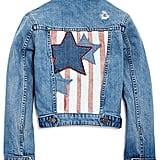 Manning Distressed Stars & Stripes Denim Jacket