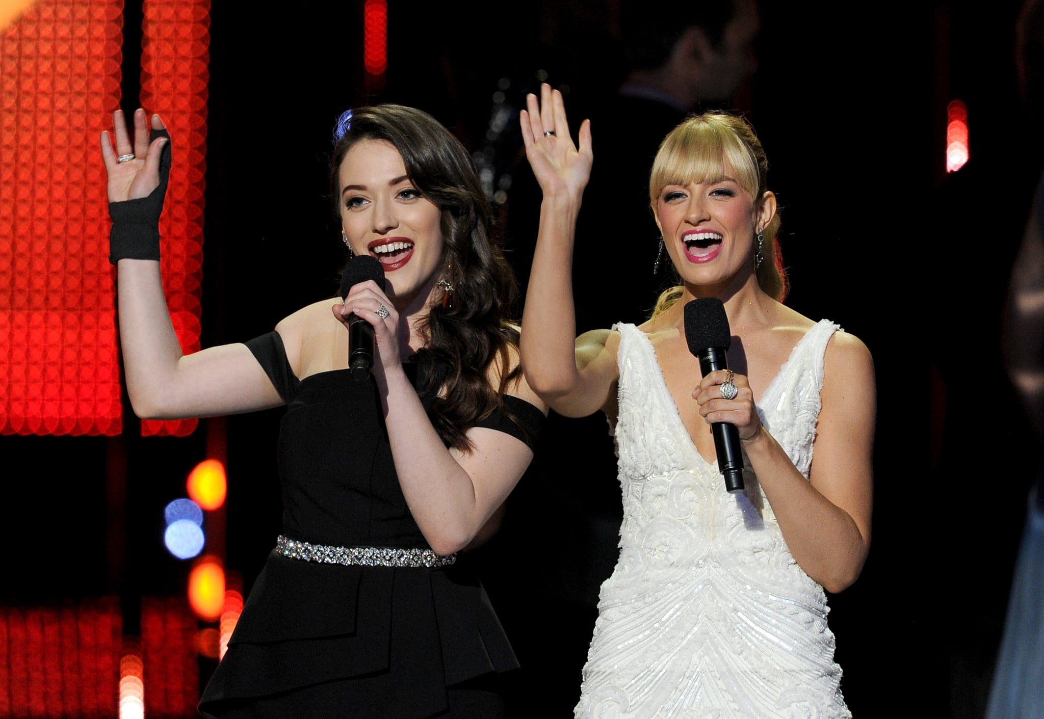 Kat and Beth showed a united front throughout the show.