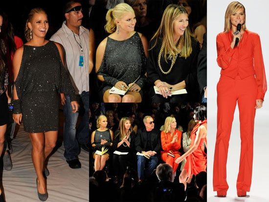 Jessica Simpson and Heidi Klum at the 2011 Project Runway Fashion Show