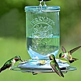 Perky-Pet Blue Mason Jar Decorative Glass Hummingbird Feeder