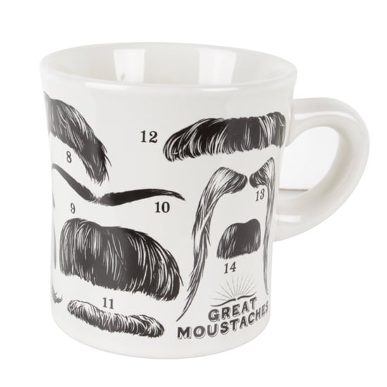 Outliving Moustache Mug, $19.95