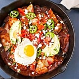 Mexican Chilaquiles Rojos With Ancho Chili Sauce