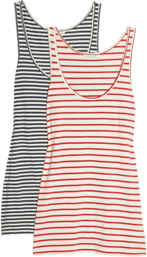 What's better than a slouchy striped tank? Two slouchy striped tanks!  Aubin & Wills Aldebourne Set of Two Striped Tanks ($70)