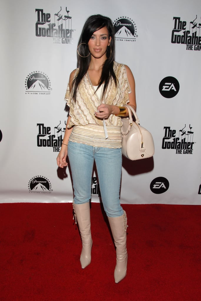Kim attended the red carpet premiere of the Godfather video game in LA in March 2006.