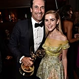 Jon Hamm and Kiernan Shipka