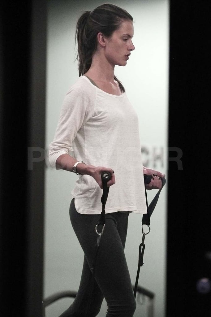 Pictures of Alessandra Ambrosio Taking Pilates Class