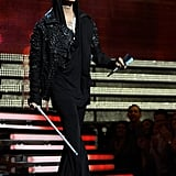 Appearing on stage at the 55th annual Grammy Awards in 2013.
